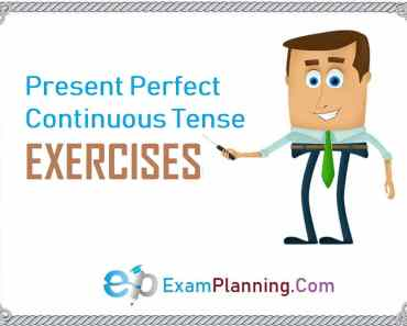 present perfect continuous tense exercises