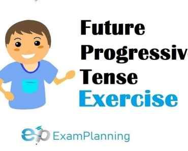 Future progressive tense exercises