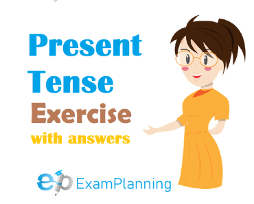 present tense exercises with answers