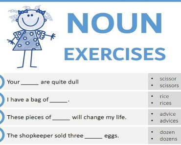 Noun Exercises with Answers