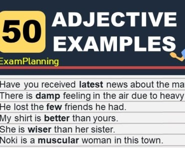 50 adjective examples