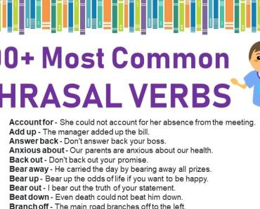 100+ most common phrasal verbs