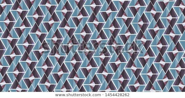 Geometric pattern room decoration