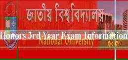 NU Honours 3rd Year Result 2016