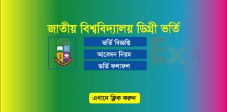 National University Degree Admission Result