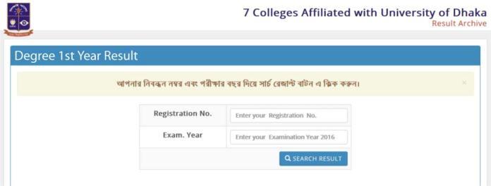 DU 7 College Degree 1st Year Result