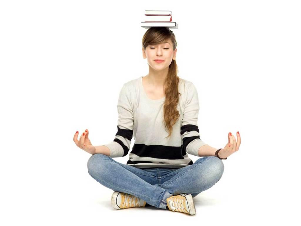 Student enjoying benefits of meditation
