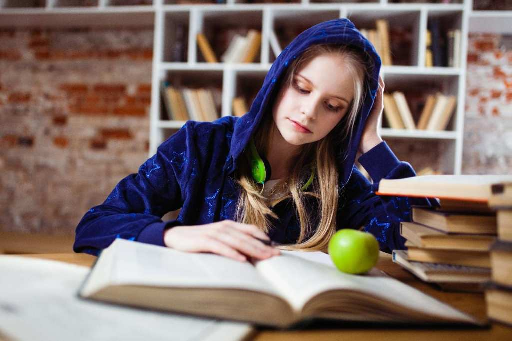 Time to improve study habits: student working