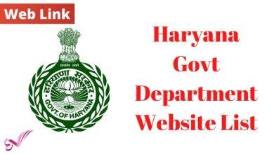 Photo of Haryana Govt Department Website List