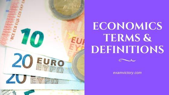 Economics Terms & Definitions