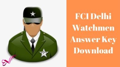 Photo of FCI Delhi Watchmen Answer Key Download
