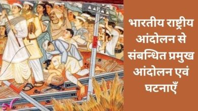 Photo of भारतीय राष्ट्रीय आंदोलन से संबन्धित प्रमुख आंदोलन एवं घटनाएँ