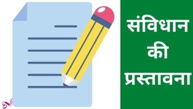Photo of संविधान की प्रस्तावना से जुड़े सवाल