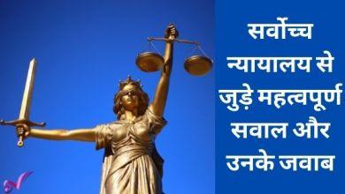 Photo of सर्वोच्च न्यायालय से जुड़े महत्वपूर्ण सवाल और उनके जवाब