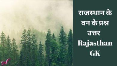 Photo of राजस्थान के वन के प्रश्न उत्तर – Rajasthan GK