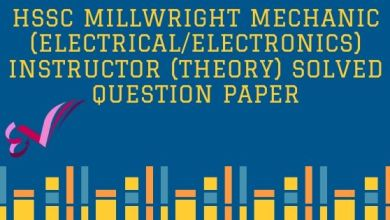 Photo of HSSC Millwright Mechanic (Electrical/Electronics) Instructor (Theory) Solved Question Paper