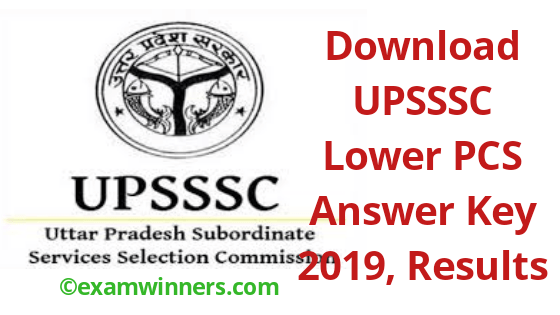 UPSSSC Lower PCS Answer keys 2019