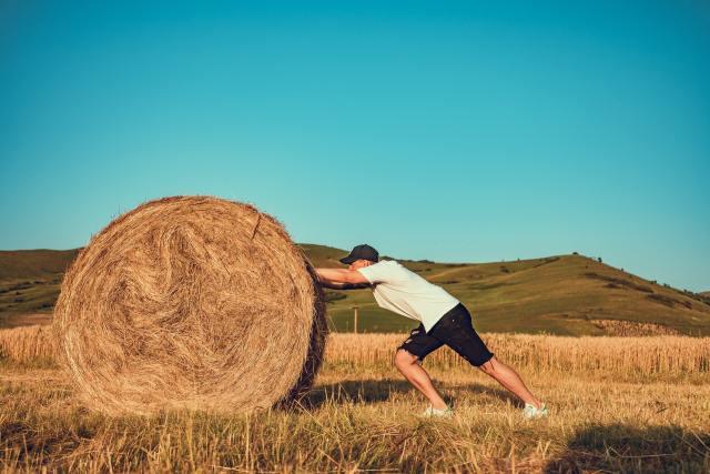Quanto de força é necessária para empurrar um objeto? A Segunda Lei de Newton esclarece que a força é proporcional à aceleração para mover um corpo com massa m. Foto de Vlad Chețan no Pexels.