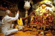 AMAL3655 (Sir in the sanctum sanctorum of the Khandoba temple, Jejuri, Pune, Maharashtra)
