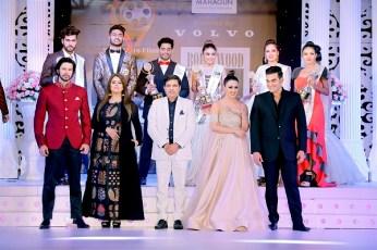 Bollywood Mr and Miss India organised by Studio 19 Films - Rajneesh Duggal, Mahima Chaudhary, Yash Ahlawat, Sana Khan and Arbaaz Khan with winners