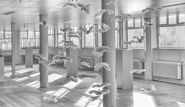 Expositie Anna Skubisz in EXbunker tentoonstelling ruimte Utrecht.