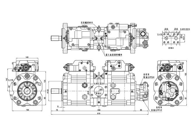 80kgs Kawasaki Main Hydraulic Pump For Excavator Volvo