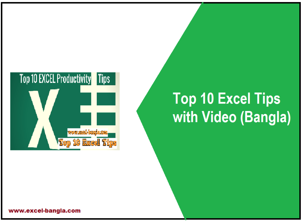 Top 10 Excel Tips with Video