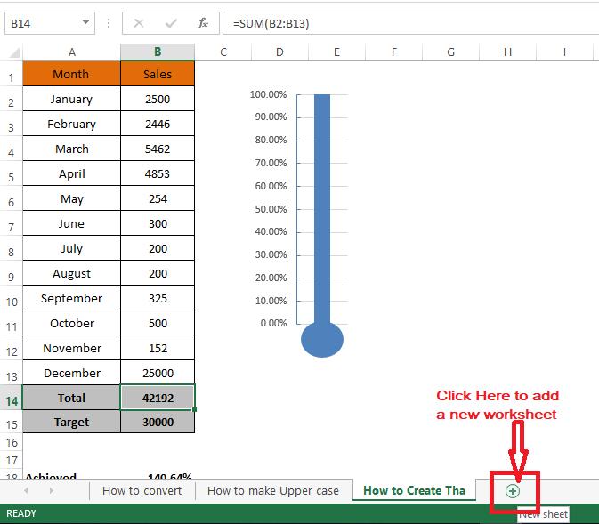 Adding worksheets in Excel