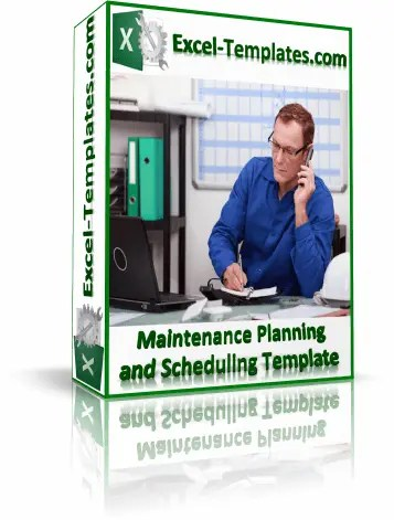 maintenance planning and scheduling template for excel 2010 and later