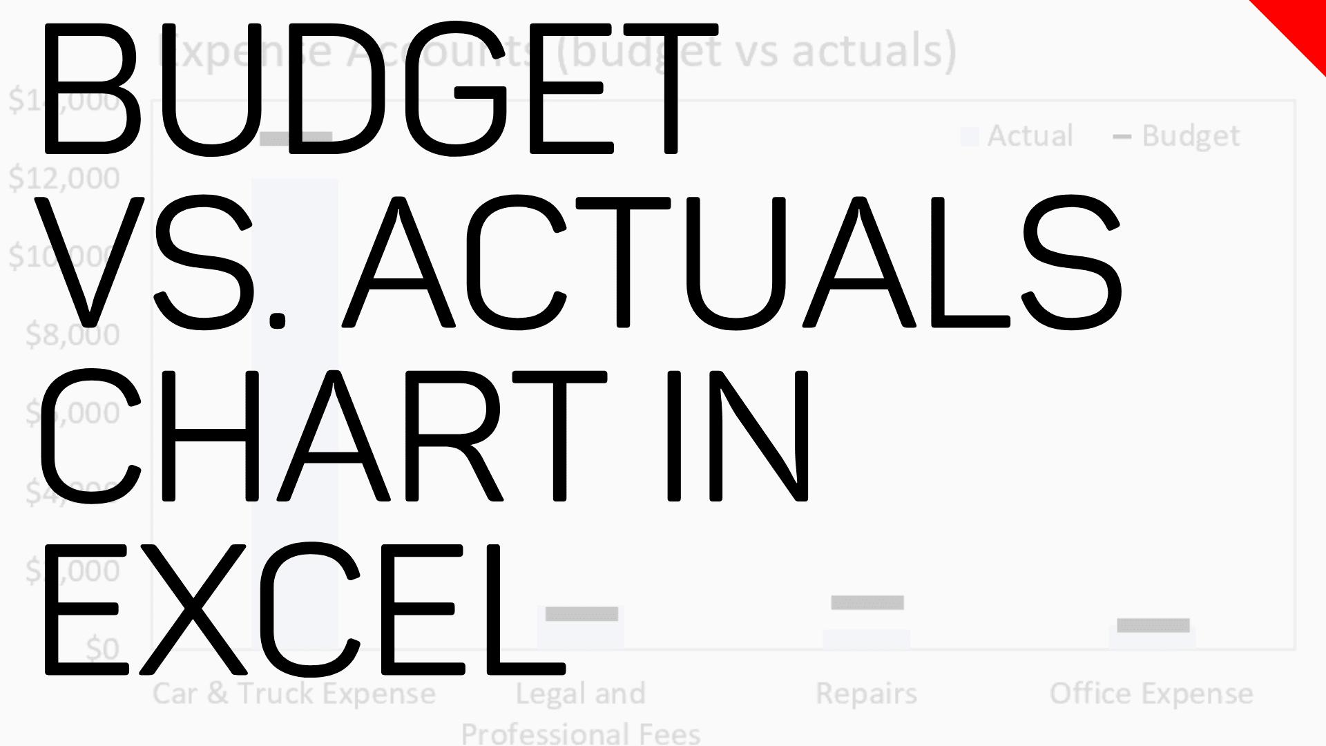 Budgets Vs Actuals Target Chart In Microsoft Excel Excel Tv Episode 50