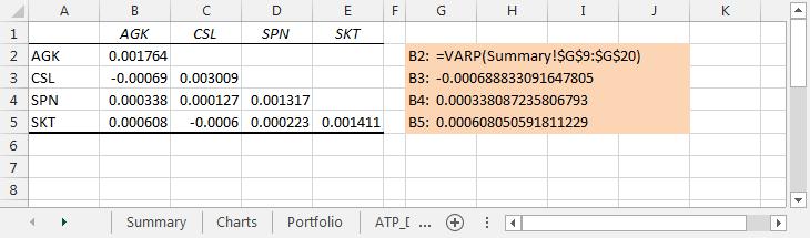 xlf-da-covariance