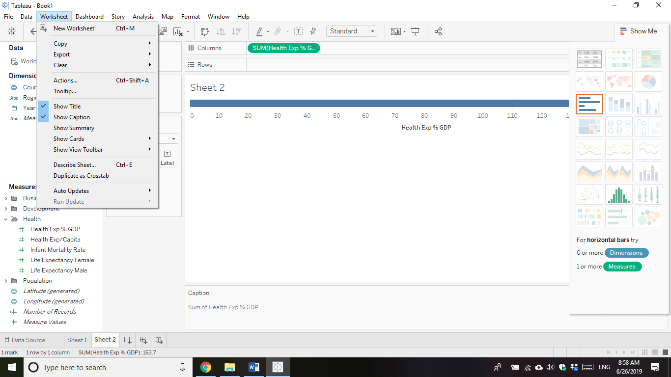 Tableau Interface Review