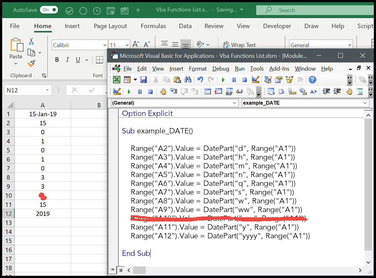 How To Use The Vba Datepart Function Syntax Example