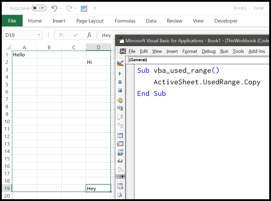 How To Use Usedrange Property In Vba In Excel