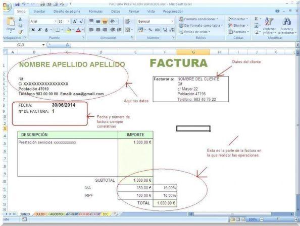Libro facturas emitidas