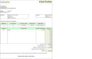 Excel plantilla Factura