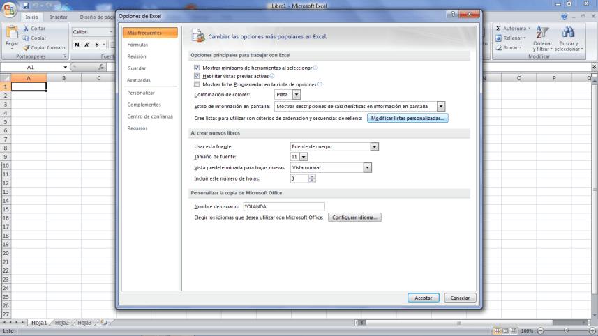 Listas personalizadas Excel