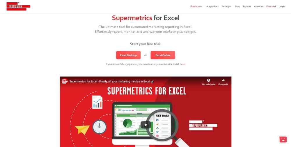Supermetrics para Excel