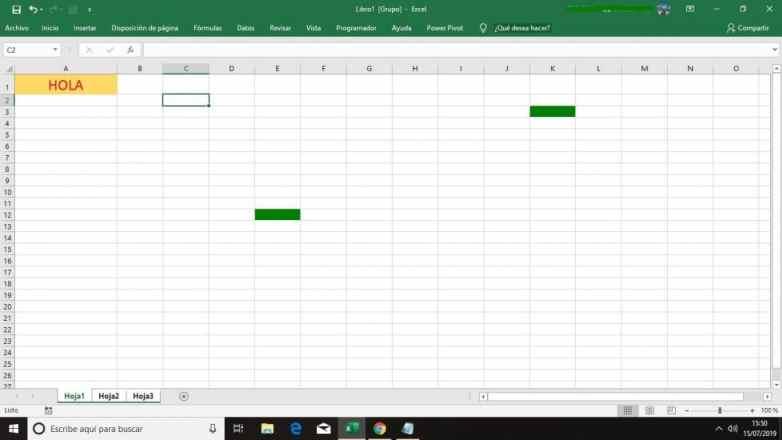 Agrupar Hojas Excel