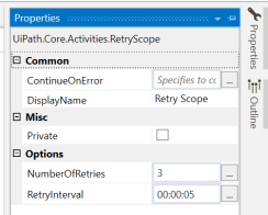 UiPath Retry Scope Activity Example 2