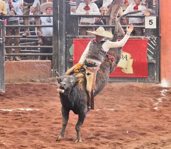 """Víctor Olvera lució con una extraordinaria monta de toro para Tres Regalos """"A"""""""