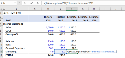 Intro to Financial Modeling Part 3 - The Calculations