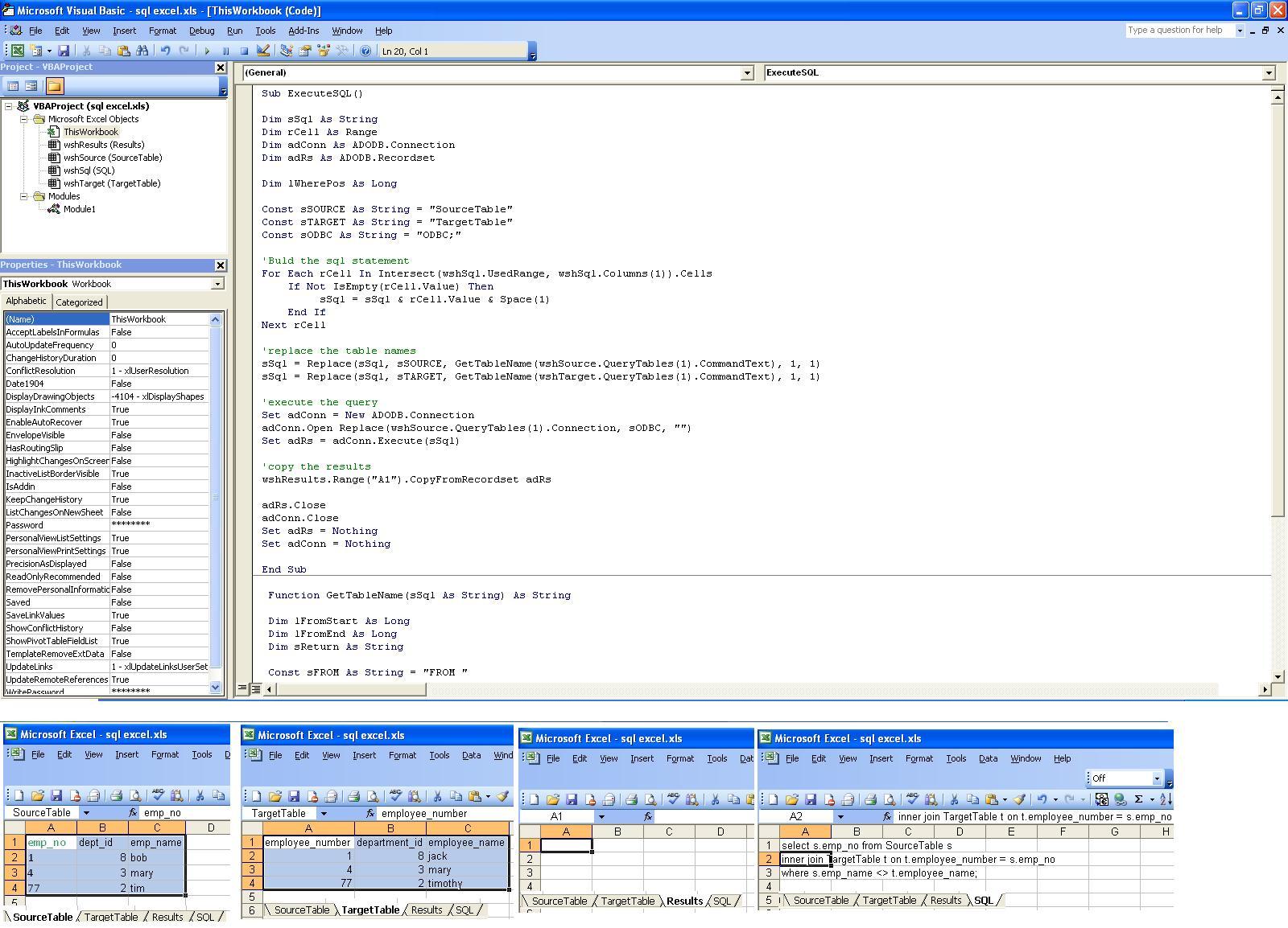 Worksheet Function Excel