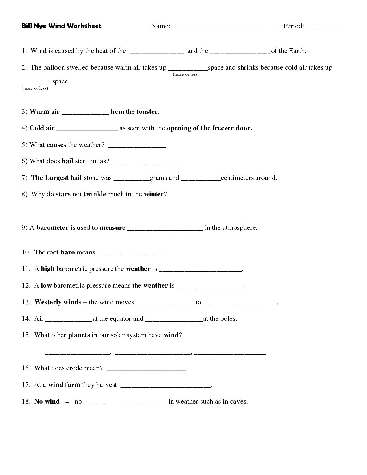 Bill Nye Brain Worksheet Answers Excelguider