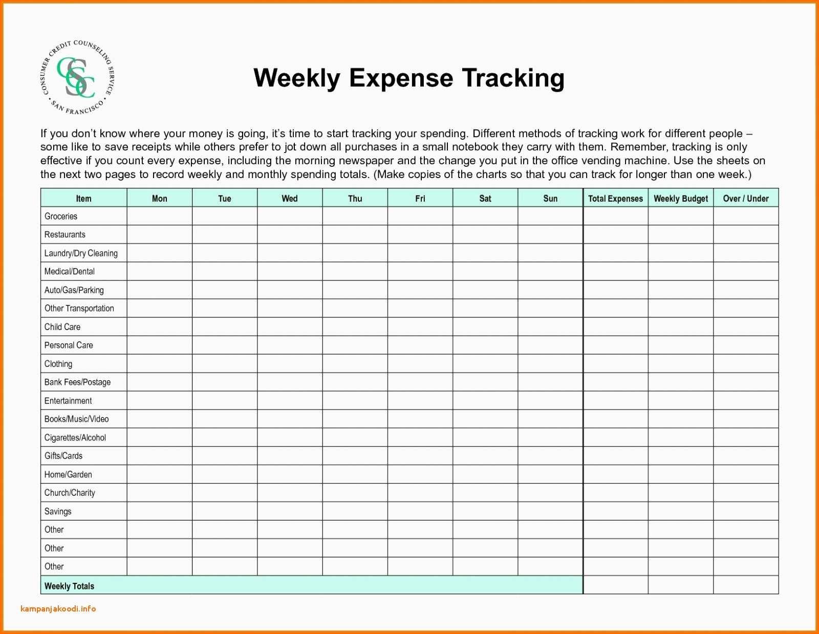 Weekly Budget Worksheet