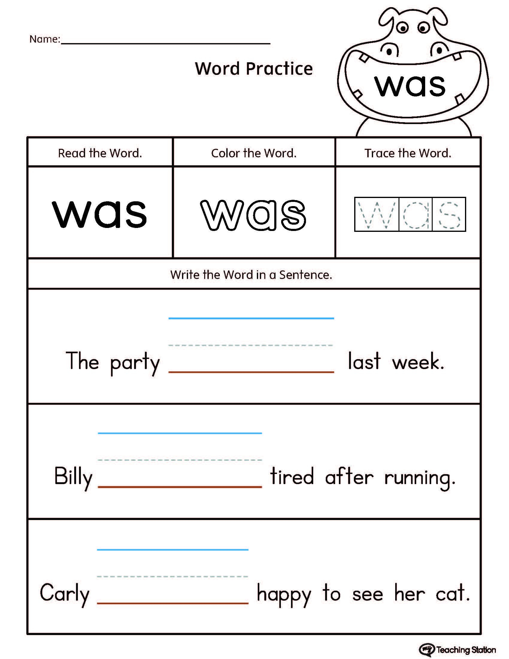 Sentence Building Worksheets For Kindergarten