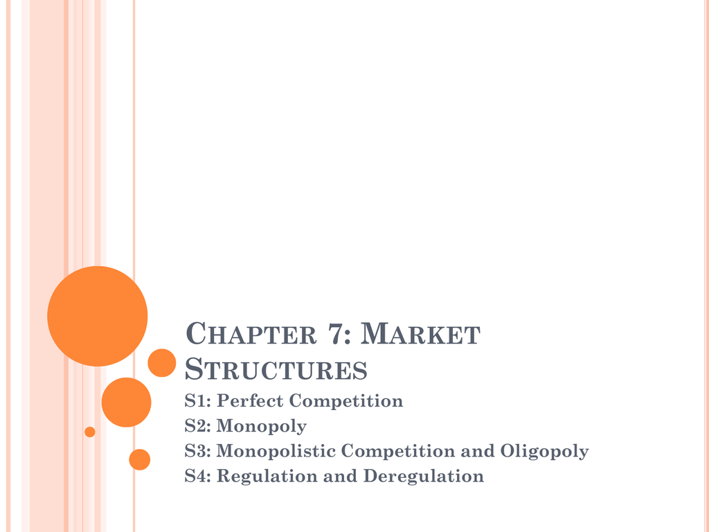 Chapter 7 Market Structures Worksheet Answers