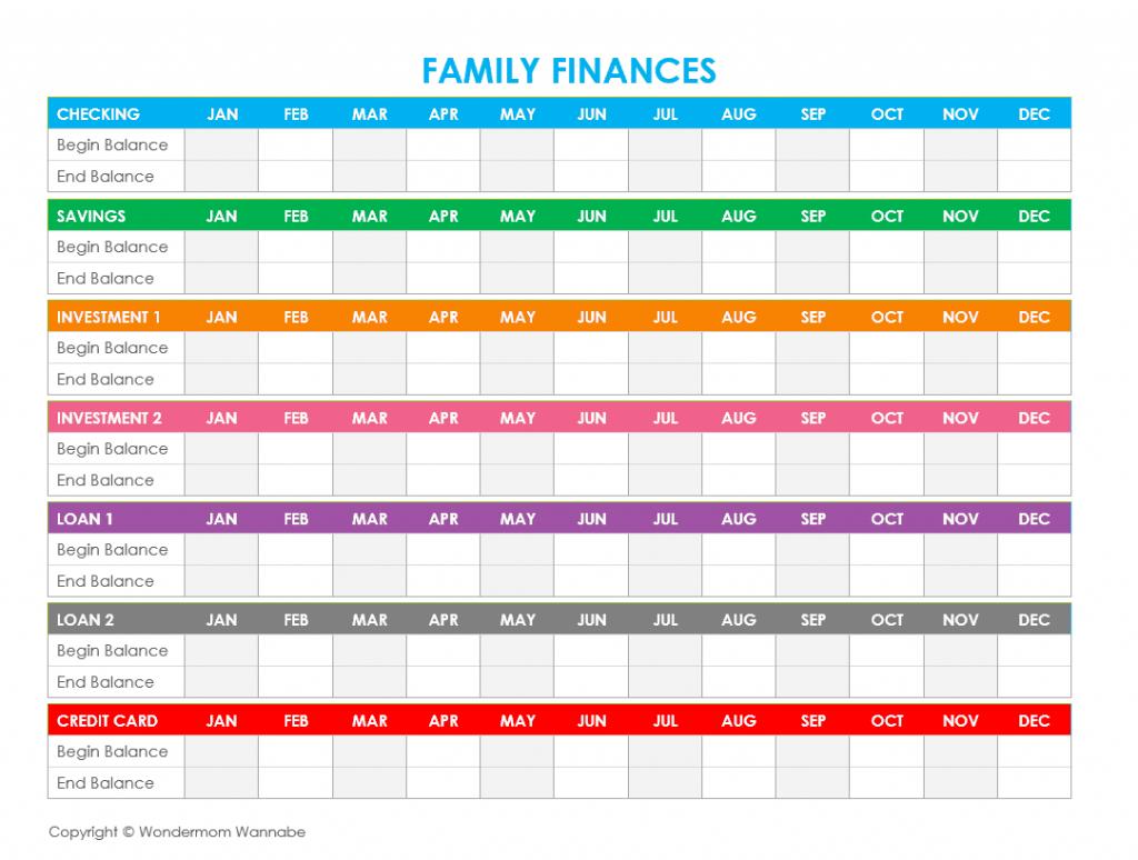 Budget Worksheet For Kids