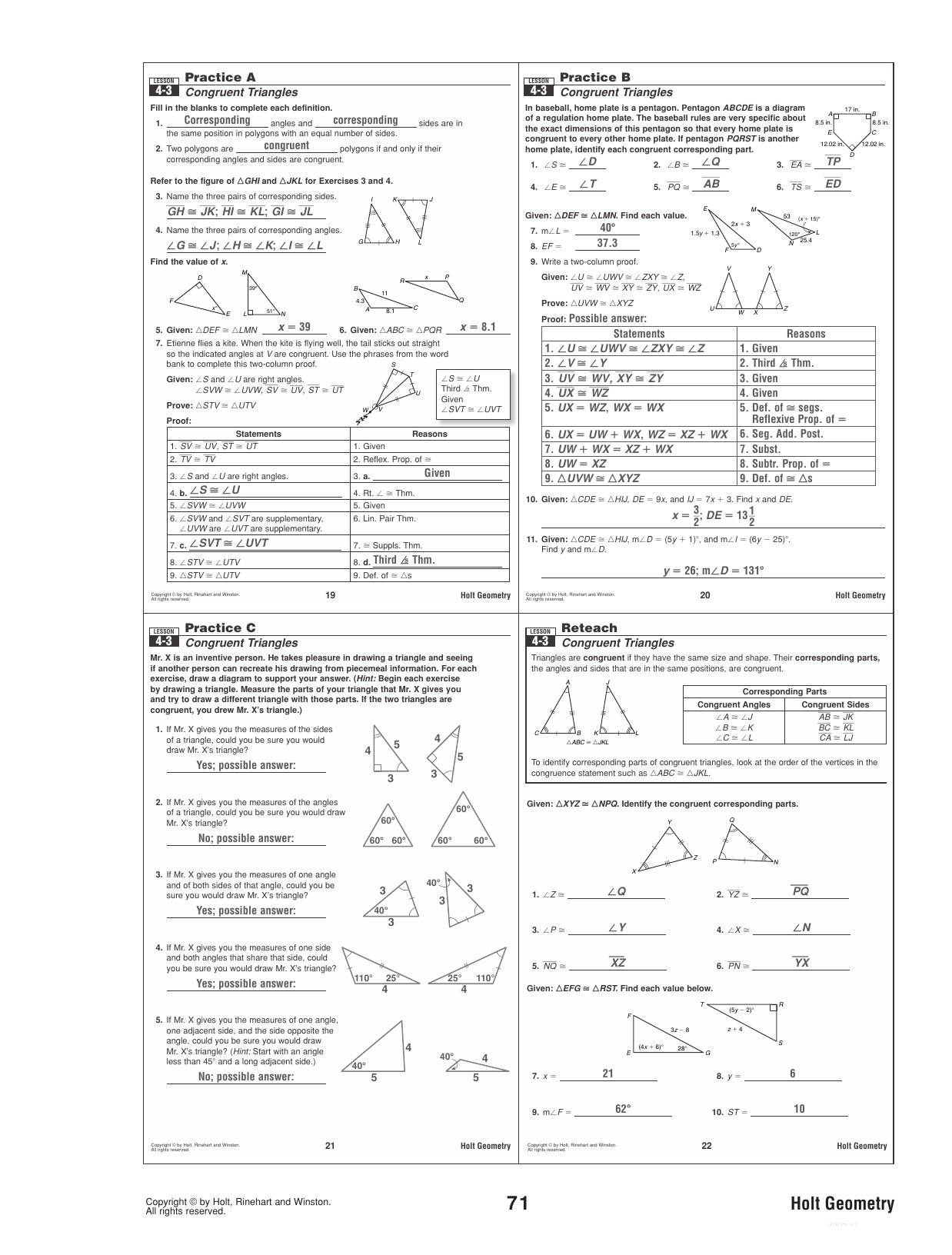 Gina Wilson All Things Algebra Geometry Unit 6 Worksheet 2 ...