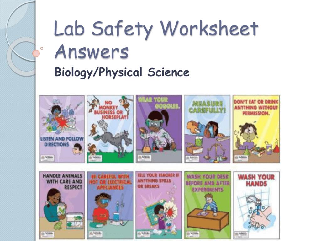 Lab Safety Worksheet